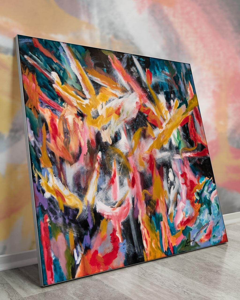 Largest Wall Art Painting Biggest Massive Huge Large Big Giant Gigantic Wall Décor Art Backlit Fabric Home Deco Artwork Artist Painting Bob Lombardi Instagram Abstract Paint Bright Colorful