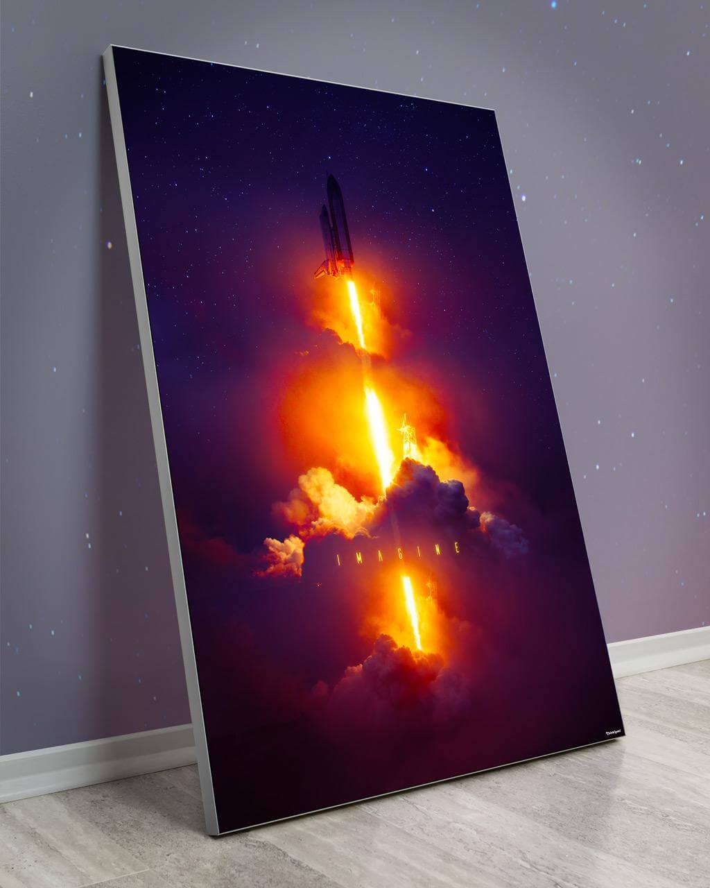 Biggest Outerspace Wall Decor Large Oversized Giant Huge Large Big Biggest Massive Gigantic Wall Art Décor Backlit Fabric Lightbox Home Deco Artwork Colorful Surreal Digital Illustrator Futuristic Neon Rainbow Space Artist Think Lumi Thinklumi Instagram Astronaut Galaxy Space Futuristic Future