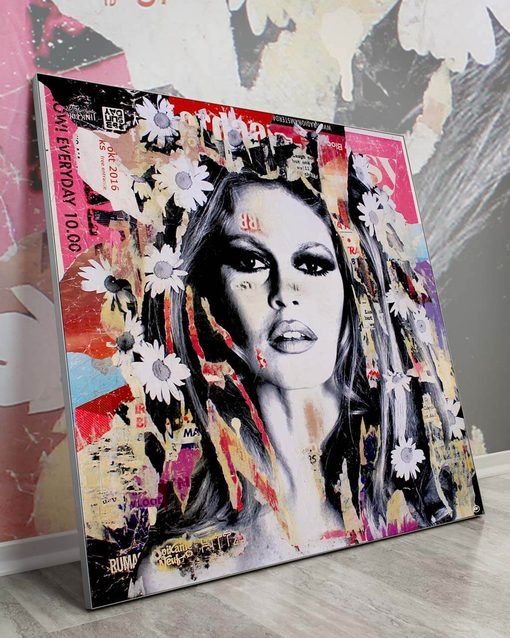 Modern Home Decor Brigitte Bardot Pop Art Celebrity Gigantic Big Biggest Massive Huge Large Largest Giant Wall Décor Art Backlit Fabric Home Deco Artwork Michiel Folkers
