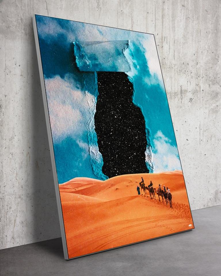 Big Stars in the Desert Wall Art Huge Decor Prints
