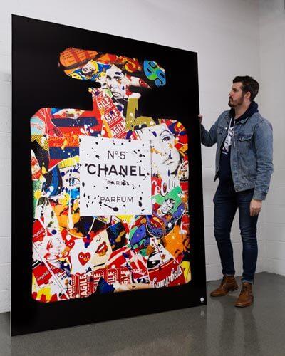 Massive Chanel Pop Wall Art