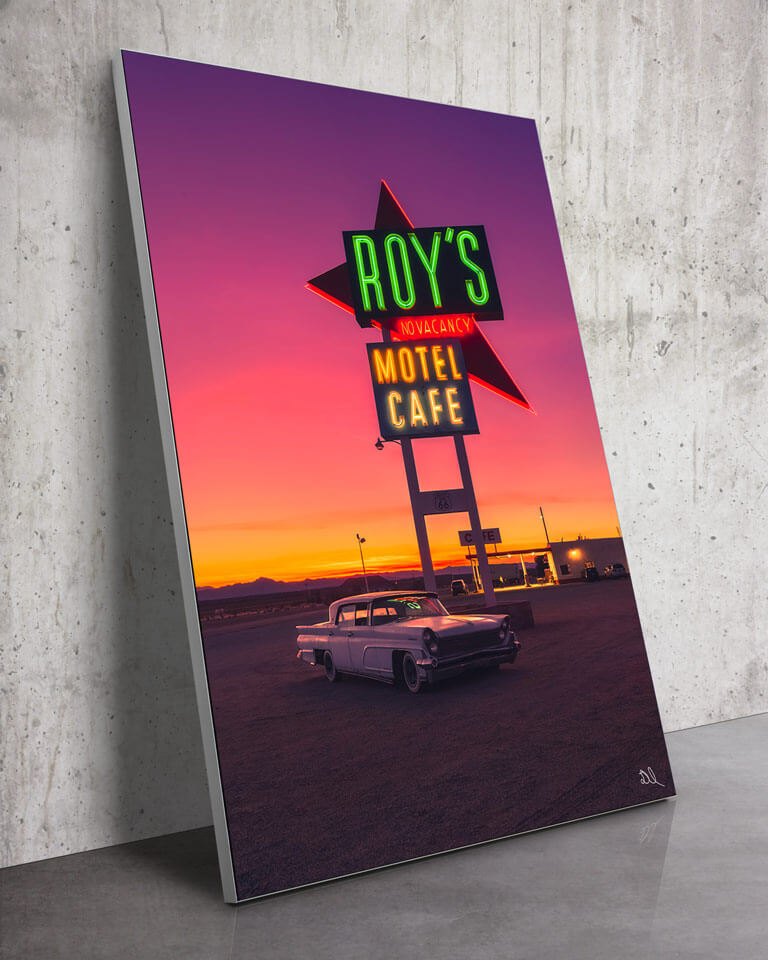 Oversized Route 66 California Classic Car Retro Wall Art
