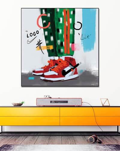 Oversized Pop Art Air Jordans