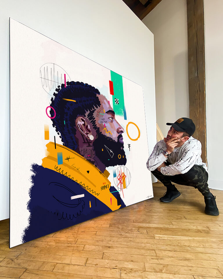 Nipsey Hussle Wall Decor 15.5x21.5 inches