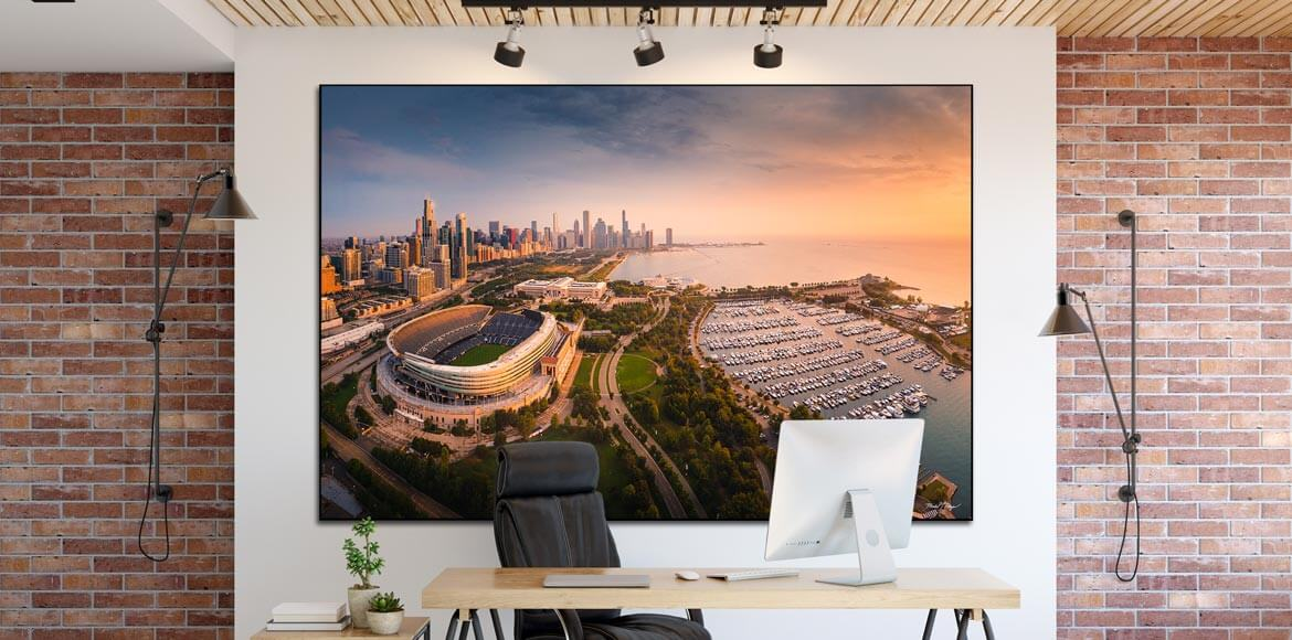 Home Office Zoom Meeting Video Conferencing Backdrop Mike Meyers Soldier Field