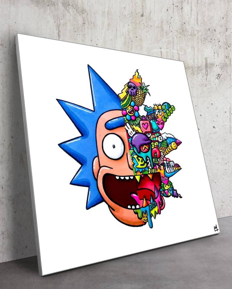 Huge Rick and Morty Wall Art Trippy Adventure Cartoon Adult Swim Drugs