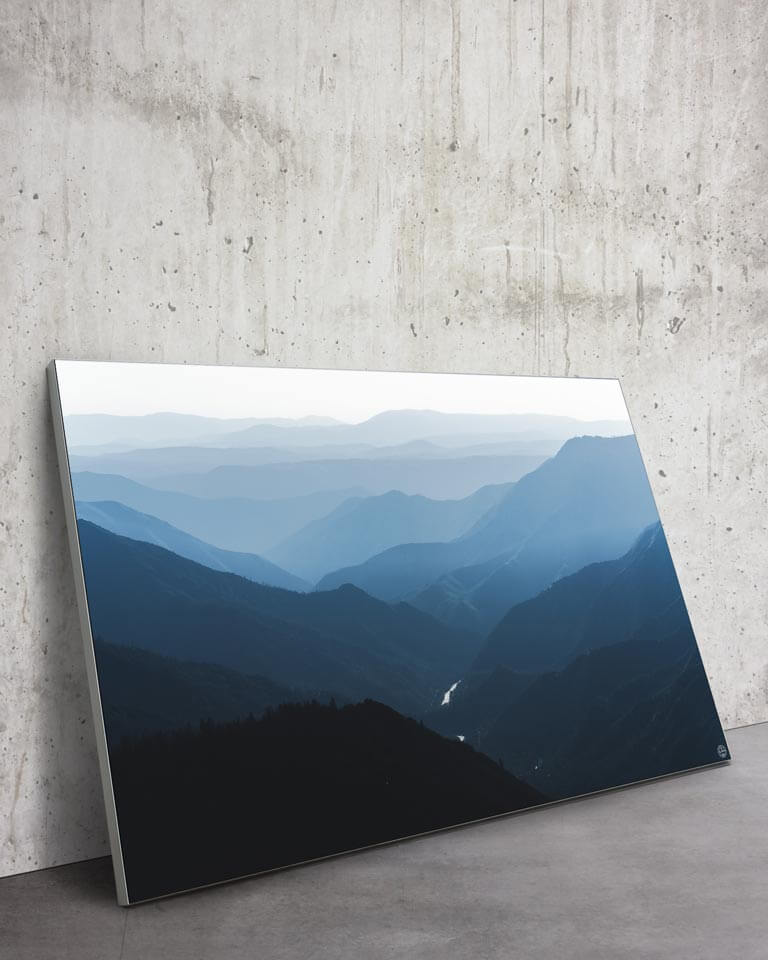 Large Scenic Blue Mountains Wall Art Modern Home Decor