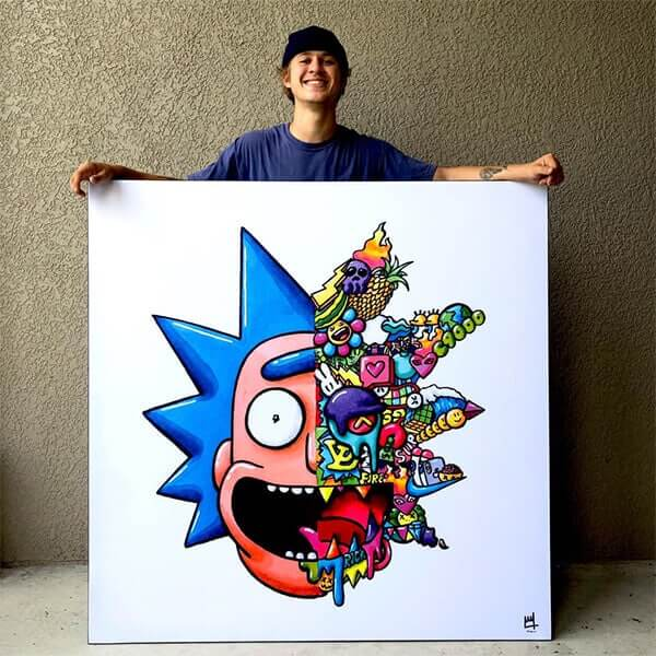 Oversized Rick and Morty large Wall Art for Modern Home Decor by Wegs Art